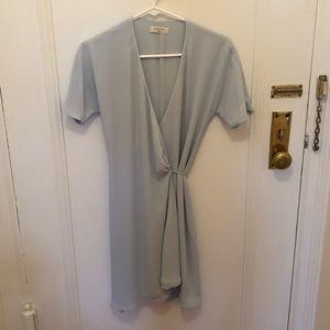 Light blue wrap dress